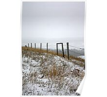 October Snow...Disappearing Mountains Poster