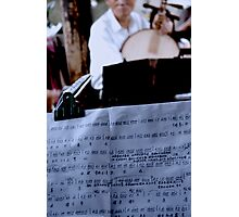 Chinese Musical Notes Photographic Print