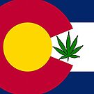 Smartphone Case - State Flag of Colorado - Cannabis Leaf 6 by Mark Podger