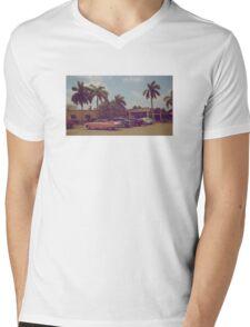 Cuban classic cars Mens V-Neck T-Shirt