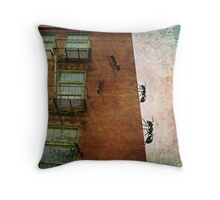 Invasion of the giant ants Throw Pillow