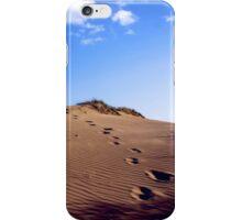 Walking through the sand dunes iPhone Case/Skin