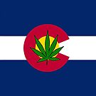 Smartphone Case - State Flag of Colorado - Cannabis Leaf 2 by Mark Podger