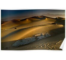Dawn on the Stovepipe Wells Dunes Poster