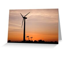 Turbine sunset! Greeting Card