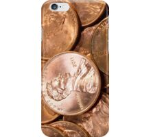 US Penny Coin Background iPhone Case/Skin