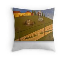 LANDSCAPE, OIL Throw Pillow