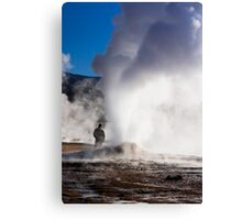 El Tatio Geysers at dawn Canvas Print