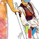 Malarczyk i Muza by BrainCandy