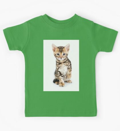Cute striped ginger kitten Kids Tee