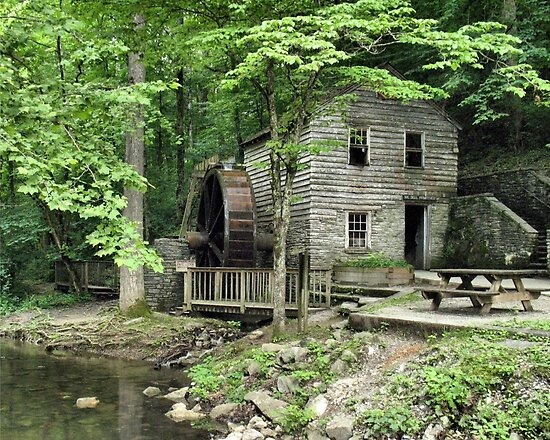 """Rice Grist Mill""... prints and products by © Bob Hall"