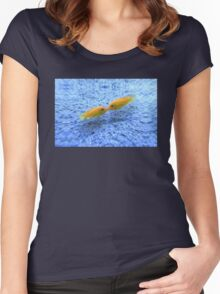 Kissing Fishes Women's Fitted Scoop T-Shirt