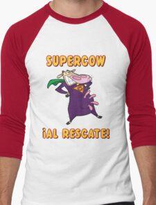 SUPERCOW! Men's Baseball ¾ T-Shirt
