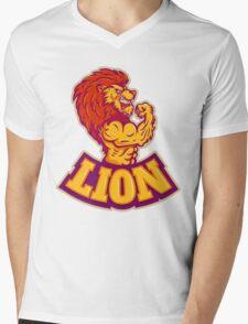 Lion bodybuilder Mens V-Neck T-Shirt