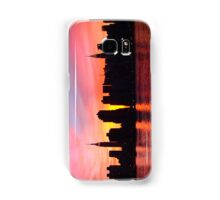 New York City Skyline in Pink Sunset Samsung Galaxy Case/Skin