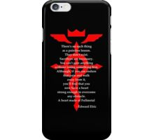 Fullmetal Heart Red iPhone Case/Skin