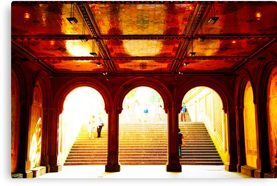 Bethesda Terrace - Central Park, New York City by Jeff Blanchard