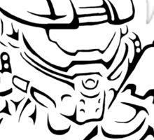 Master Chief Headshot Celtic Sticker