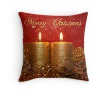 candle light 02 (Christmas card) Throw Pillow