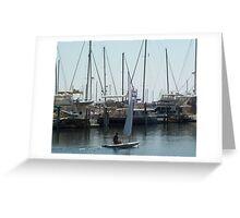 Relaxing At The Marina Greeting Card