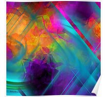 The Color Of My Love Live-Abstract  Art + Products Design  Poster