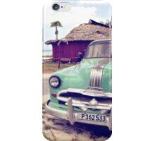 Cuban classic car by the beach iPhone Case/Skin