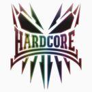 Hardcore TShirt - Rainbow DarkEdge by Coreper