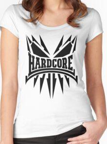 Hardcore TShirt - Black Women's Fitted Scoop T-Shirt