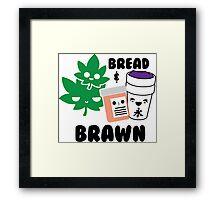 Bread & Brawn Kawaii Drugs Weed Pills Lean Funny Japanese Brawn & Bread Original Framed Print