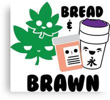 Bread & Brawn Kawaii Drugs Weed Pills Lean Funny Japanese Brawn & Bread Original Canvas Print