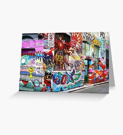 Melbourne Graffiti  Greeting Card
