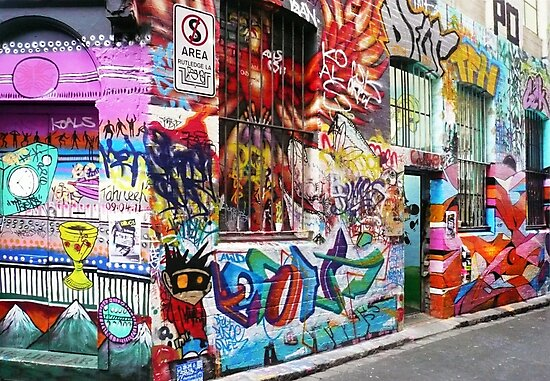 Melbourne Graffiti  by Roz McQuillan