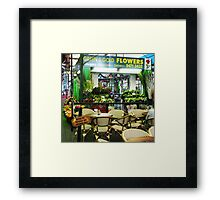 Time for a coffee before the crowds arrive, Preston, Melb. Vic Australia Framed Print