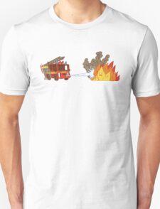 Fire vs Engine T-Shirt