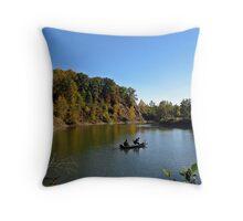 Autumn Anglers Throw Pillow