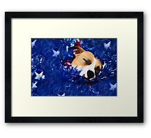 Cradled by a Blanket of Stars and Stripes Framed Print