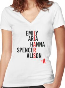 LIARS -A Women's Fitted V-Neck T-Shirt