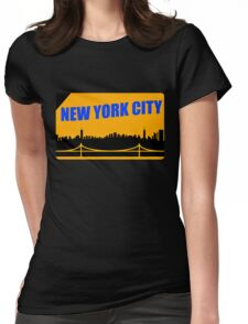 New York City Skyline Subway Card Womens Fitted T-Shirt