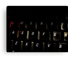 QWERTY Canvas Print
