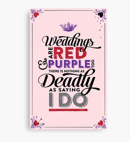 Deadly Weddings Canvas Print