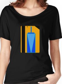 Freedom Tower Subway Card Women's Relaxed Fit T-Shirt