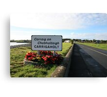 Carrigaholt village Canvas Print