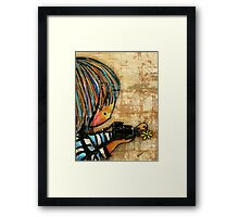 smile baby macro photography Framed Print