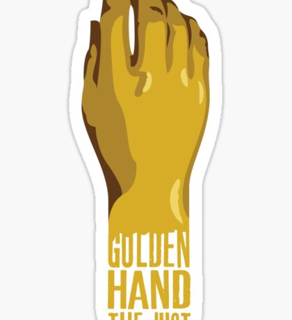 Golden Hand the Just Sticker