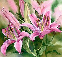 Stargazer Lilies by artbyrachel