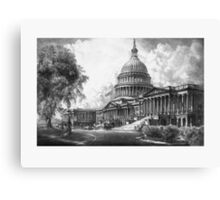 United States Capitol Building Canvas Print