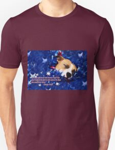 Cradled by a Blanket of Stars and Stripes - Quote T-Shirt