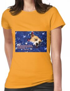 Cradled by a Blanket of Stars and Stripes - Quote Womens Fitted T-Shirt