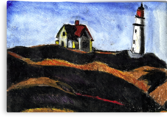 LightHouse (After E.Hopper) by RobynLee
