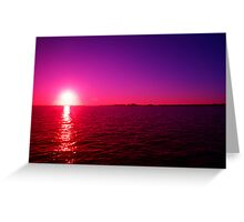 Cool Sun Greeting Card
